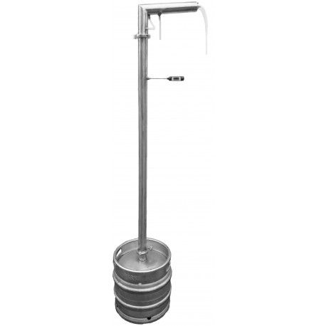 DISTILLER SMS 30 liters STAINLESS ON PIPE 60mm - for electric