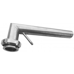 Stainless Hose Connector size 1/4 inch , 13 mm, for a 8 millimeter hose