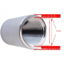 12mm STAINLESS STEEL TUBE, type 1.4301
