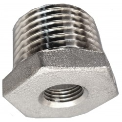 Threaded stainless steel reduction 1/8 inch - 1/2 inch