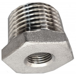 Threaded stainless steel reduction 1/8 inch - 1/4 inch