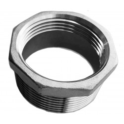 Threaded stainless steel reduction 5/4 inch - 3/2 inch